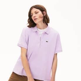 リラックスフィット キモノスリーブポロシャツ(半袖) (ライトパープル)