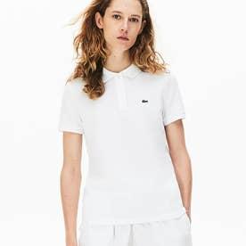 コットン100% ピケ ポロシャツ(半袖) (ホワイト)