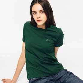 ベーシッククルーネックポケットTシャツ (グリーン)