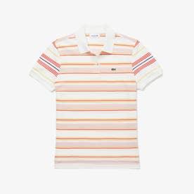 クラシックフィット マルチカラーストライプポロシャツ (半袖) (ピンク)