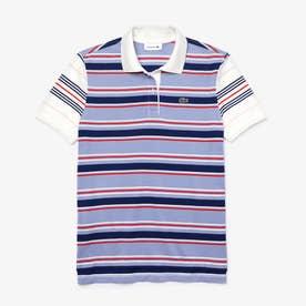 クラシックフィット マルチカラーストライプポロシャツ (半袖) (ブルー)