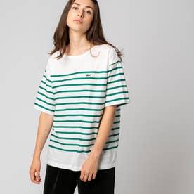 リップルボーダージャージTシャツ (グリーン)