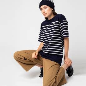 リップルボーダージャージTシャツ (ネイビー)