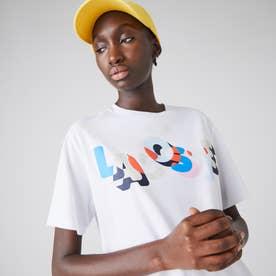 カラーロゴプリントクルーネックTシャツ (ホワイト)
