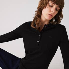 ストレッチポロシャツ(長袖) (ブラック)
