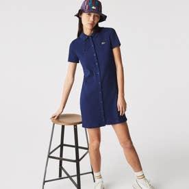 L!VEポロシャツドレス (ダークブルー)