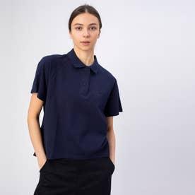 Aライン半袖ポロシャツ (ネイビー)
