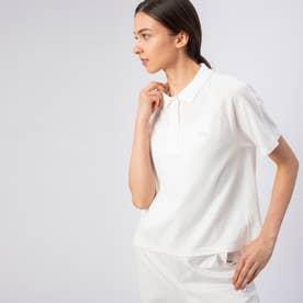 Aライン半袖ポロシャツ (ホワイト)