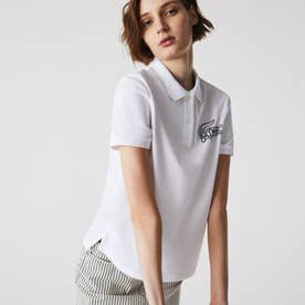 ビッグフロッキープリントポロシャツ (ホワイト)