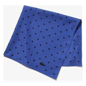 ドットプリントスカーフ (ブルー)