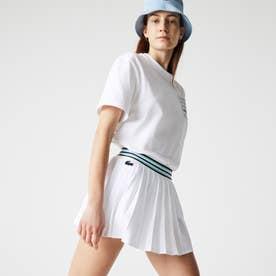 ライニングショーツ付きテニススカート (ホワイト)