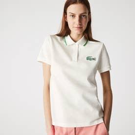 ストライプクロックエンブレムポロシャツ (ホワイト)