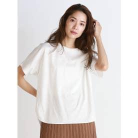 《綿100%》アルビニスムース クルーネックTシャツ (ホワイト)