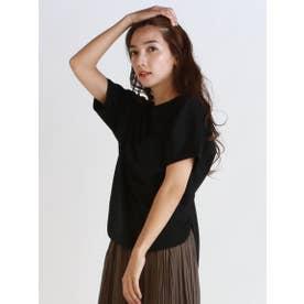 《綿100%》アルビニスムース クルーネックTシャツ (ブラック)