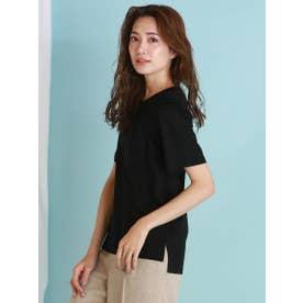 【WEB別注】ベーシックな綺麗め半袖Tシャツ (ブラック)