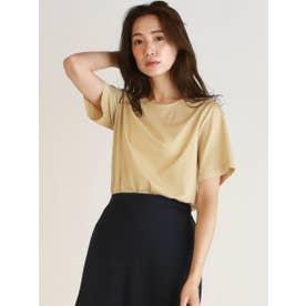 【WEB別注】ベーシックな綺麗め半袖Tシャツ (ベージュ)