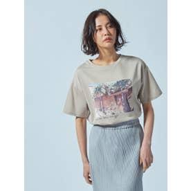 【WEB別注】フォトグラフプリントTシャツ《洗濯機で洗える》 (ベージュ)