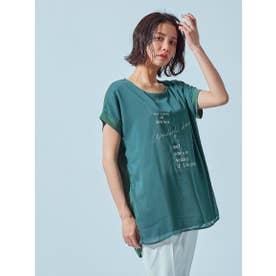 【WEB別注】サーフプリントTシャツ (カーキ)