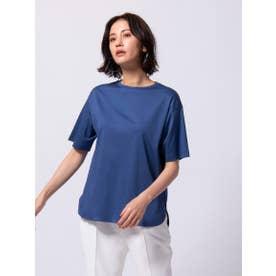 【WEB別注カラーあり】綿100% スーピマTシャツ≪洗濯機で洗える≫ (ブルー)