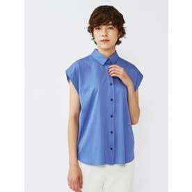スッキリ見えノンストレスシャツ《形態安定性/イージーケア》 (ブルー)