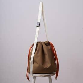 THORN ショルダーバッグ レディース 巾着 ユニセックス A4 シンプル おしゃれ (カーキ)