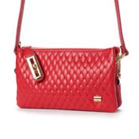 キルティング型押しお財布ポシェット (RED)