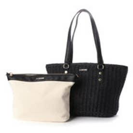 バッグインバッグ付きペーパーかごバッグMサイズ (ブラック)