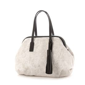 【STOF】フレームキャンバスバッグ Mサイズ (ホワイト)