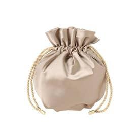 LADY巾着サテンBAG(ゴールド)