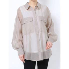 オーバーシアーシャツ(ライトグレー)