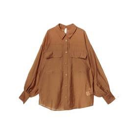 オーバーシアーシャツ(キャメル)