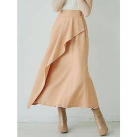 ラッフルマーメイドスカート(オレンジ)