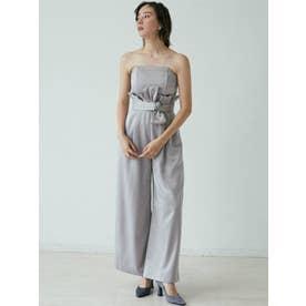 LADYハイウエストワイドパンツドレス【返品不可商品】(アイスブルー)