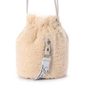 ムトン 巾着バッグ ライトグレー2