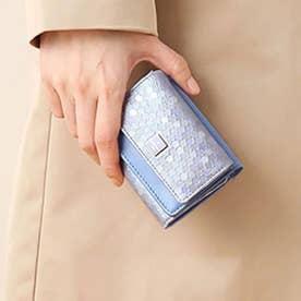 レポワン 3つ折り財布 ライトブルー2