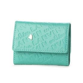 シュシュ 3つ折り財布 (ライトグリーン)