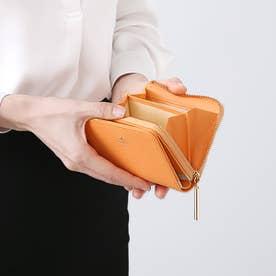 リュクサンブールカラー Lファスナー2つ折り財布 (オレンジ)