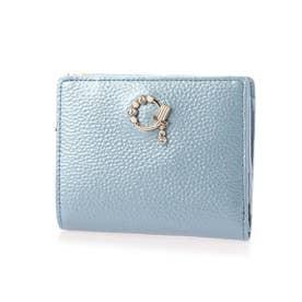 ミュゲ コンパクト財布 (ブルーグレー)