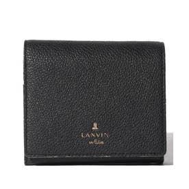 メラニー 二つ折りBOX財布 ブラック