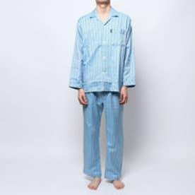 ツイルヘリンボーンチェックパジャマ (ブルー)