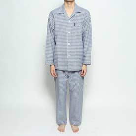 ネルガンクラブチェックパジャマ (ブルー)
