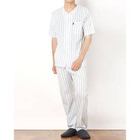 サッカーストライプ衿なしパジャマ (グリーン)