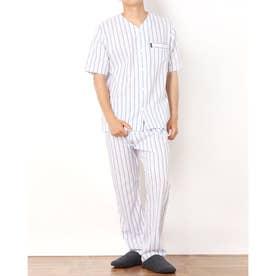 サッカーストライプ衿なしパジャマ (ピンク)