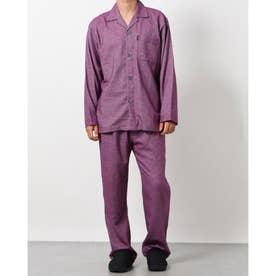 ネルマイクロヘリンボーンパジャマ (レッド)