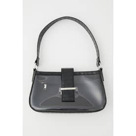 CROCO CLEAR ONEHANDLE BAG BLK