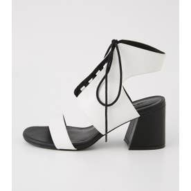 LACE UP SANDAL WHT