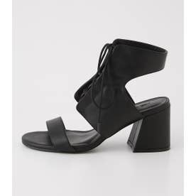 LACE UP SANDAL BLK