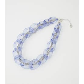 CLEAR WRAP CHAIN NECKLACE PUR