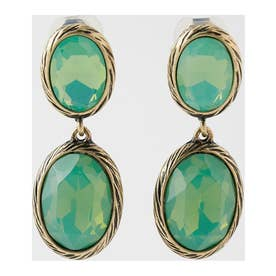 DROP JEWEL EARRING GRN