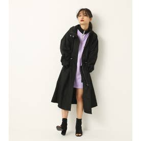 NYLON LONG COAT BLK